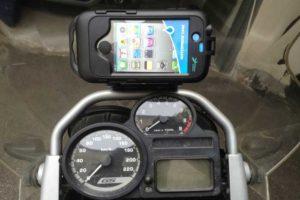 Supporto per navigatore per moto