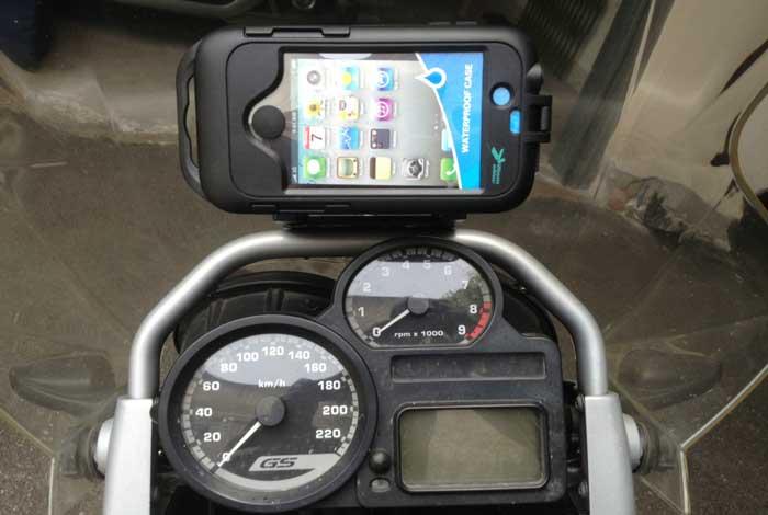 Supporto navigatore con custodia adattabile a moto scooter e