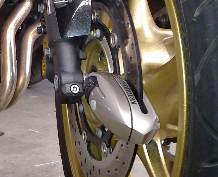 Blocca ruota per moto