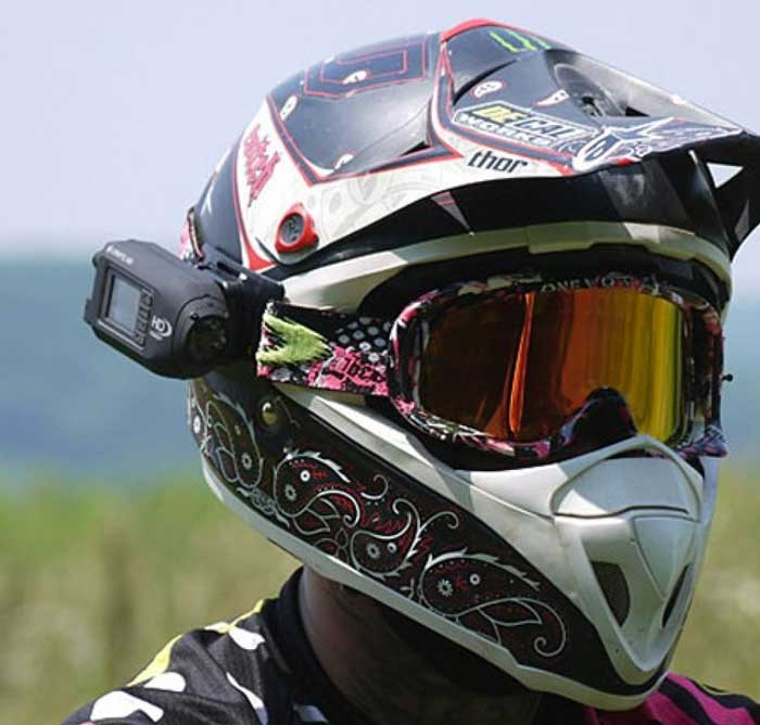 Telecamera da casco per moto