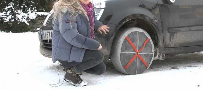 Calza da neve per auto solida