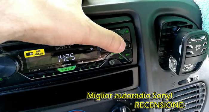 Recensione delle autoradio Sony