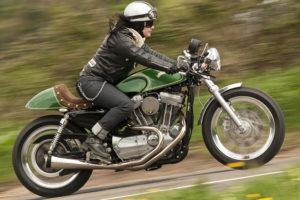 Abbigliamento vintage da moto