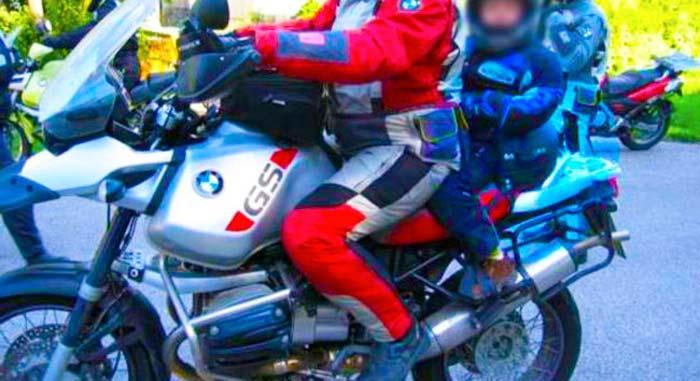 Seggiolino da moto per bambini