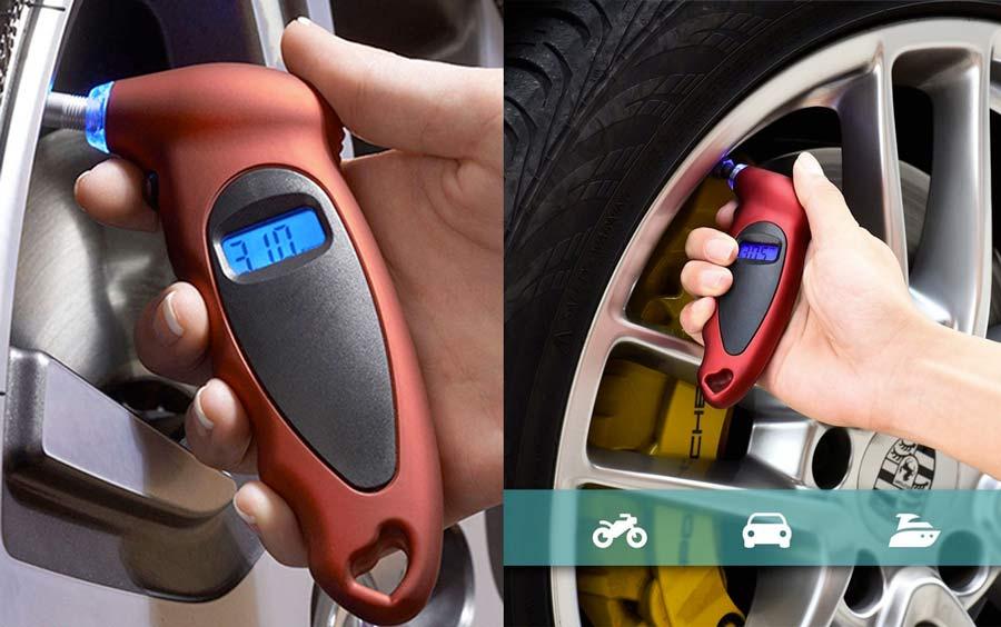 Manometro digitale per gomme