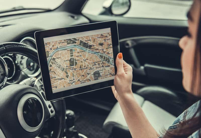 Supporto tablet per auto